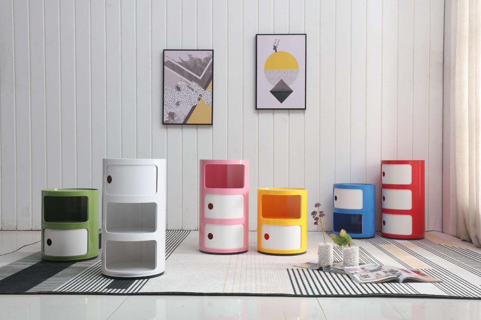 Round Plastic narrow Storage Cabinet