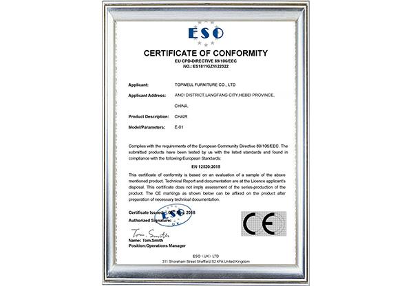 Certificate 1 E01