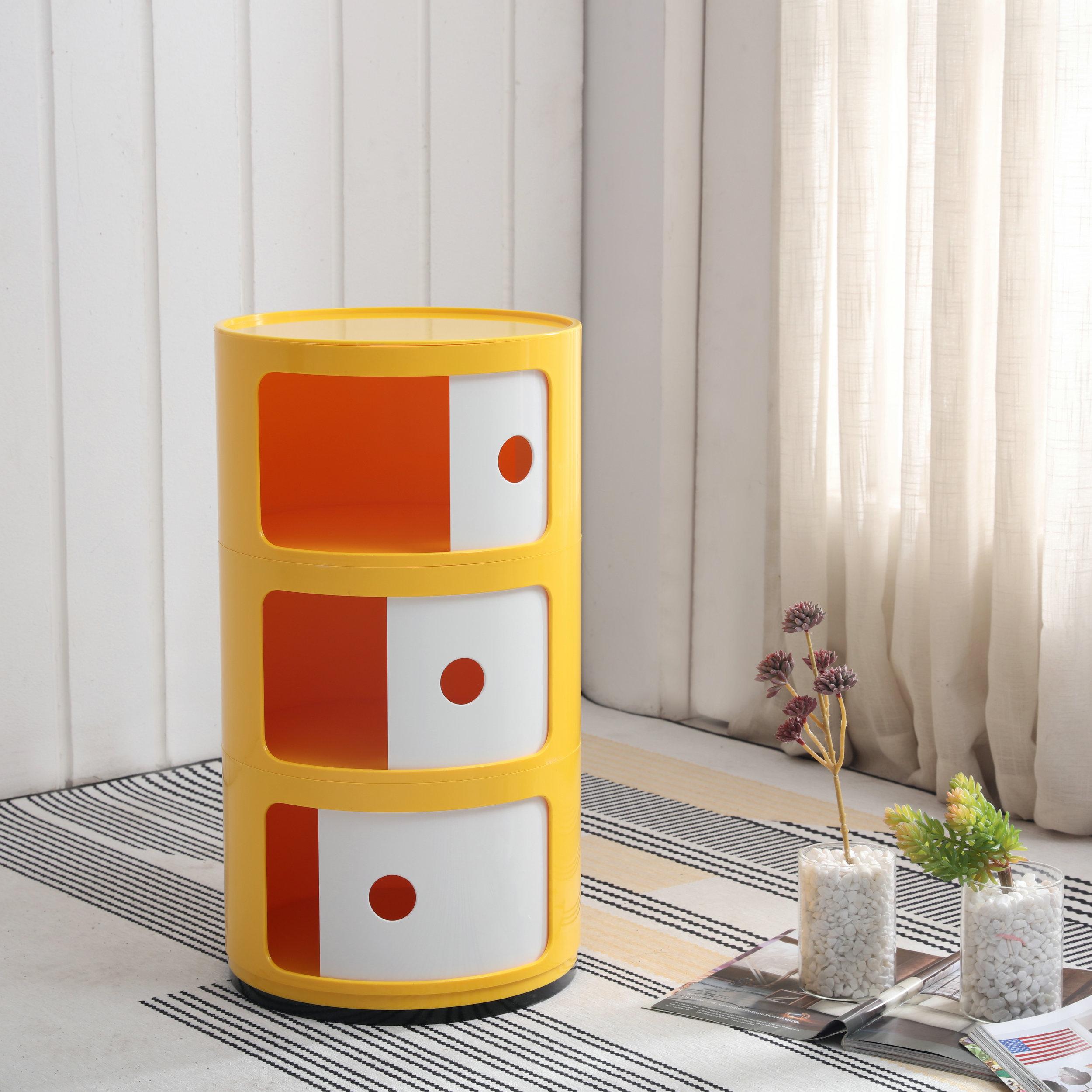 Round compartment Plastic narrow Storage Cabinet